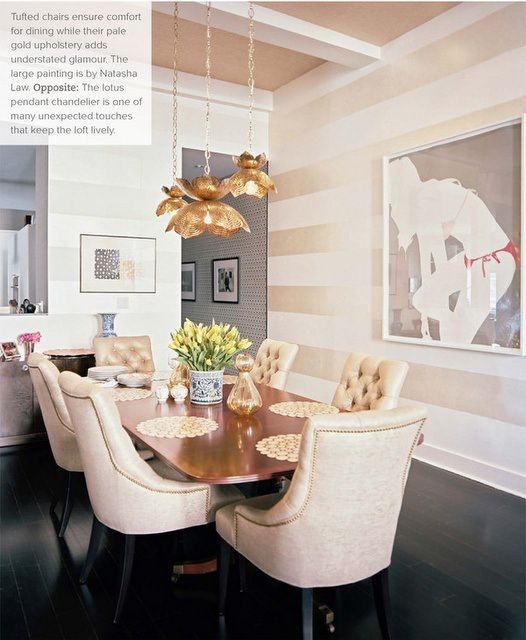 Gold Dining Room: What's Hot By JIGSAW DESIGN GROUP