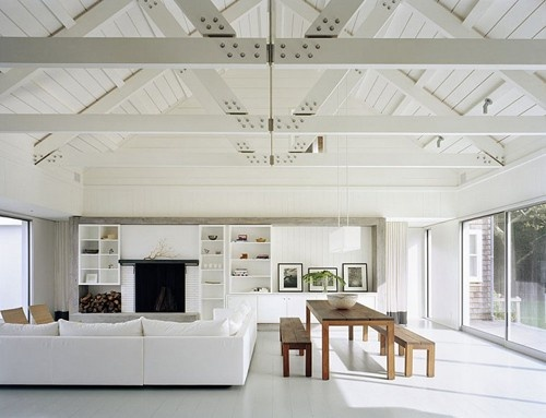 exposed ceiling beams what 39 s hot by jigsaw design group. Black Bedroom Furniture Sets. Home Design Ideas