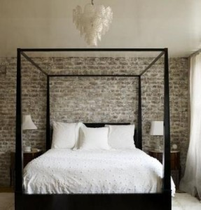 brick bedroom