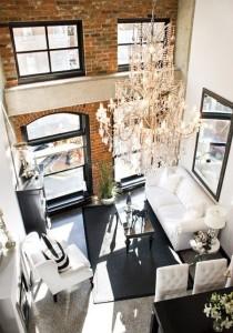 brick chandelier