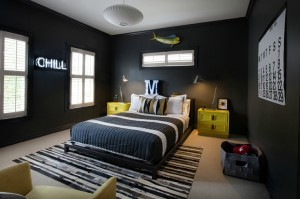 black boys room neon yellow