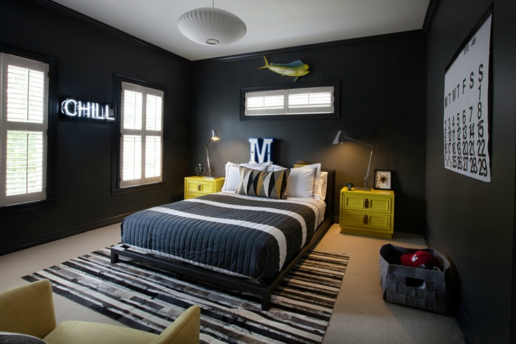 black boys room neon yellow & The Diary of a Cool Kid\u0027s Room | What\u0027s Hot by JIGSAW DESIGN GROUP