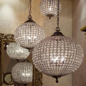 crystal deco chandelier