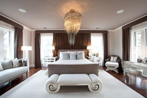 elegant bedroom scroll ottoman