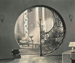 iron work circle entry