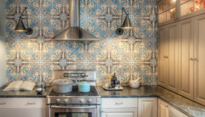 encaustic backsplash