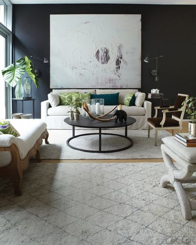 The round coffee table has become increasingly popular and can be found in  so many varieties. The Jigsaw Designers love mixing metal into a space for  a ...