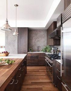 Marble modern masculine kitchen