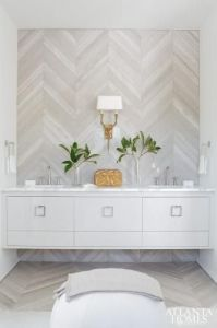 Neutral Chevron Tile