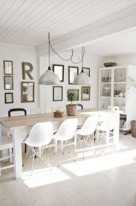 white washed dining eames