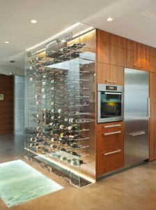 wine storage glass case