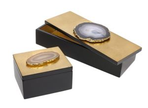 Agate Jewel Boxes