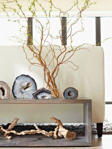 Agate Objects console Add an element of nature
