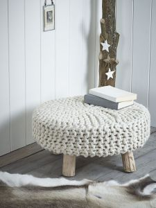 Knit foot stool