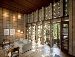 Living room windows and doors
