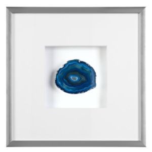 Mounted Blue Agate Wall Decor