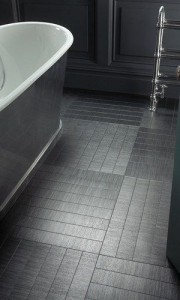 black bath tile