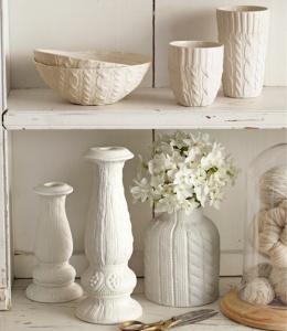 ceramic candle vase