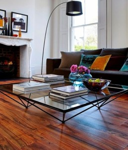 hardwood living room
