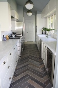 herringbone kitchen viyl wood plank
