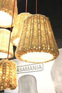 knit pendant lamps