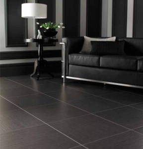 large dark grey square tile