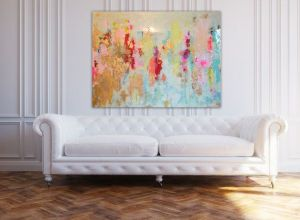opening photo canvas art w white sofa