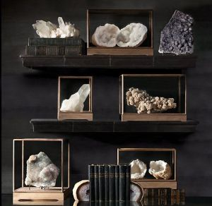 restoration hardware boxes w mineral agate geodes and minerals