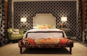 Blk wht bedroom