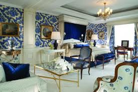 George V Paris blue fabric wall paper