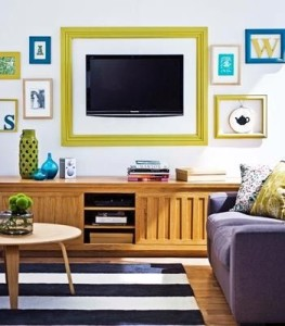 TV Fun Bright Yellow Living room frame