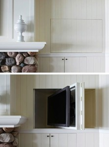 TV out of sight kitchen