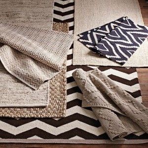 Jute and Cheniile Herringbone rugs