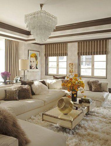 white shag carpet living