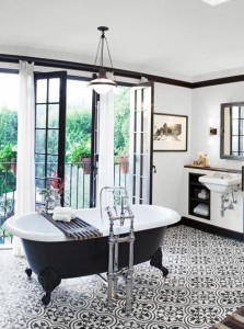 blk white claw foot iron windows encuatic tiles