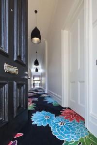 bold floral carpet