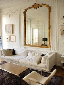 gold mirror french apartment