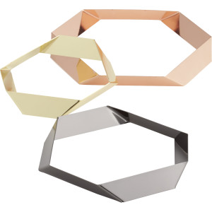 mixed metal trivets cb2