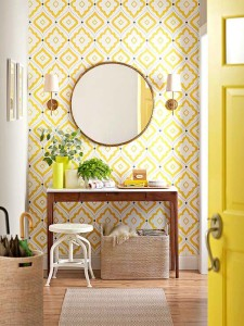 Entry Wall Paper Yellow