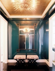 Entry Way Gold Leaf Ceiling