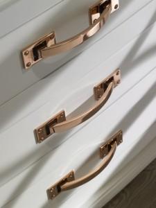 Rose Gold Hardware drawers