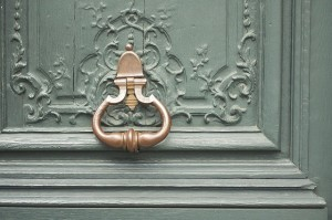 rose gold door knocker