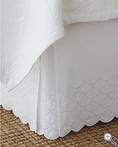 Garnet Hill Bedskirt Scallop