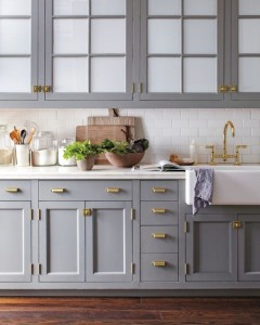 Gold Hardware kitchen