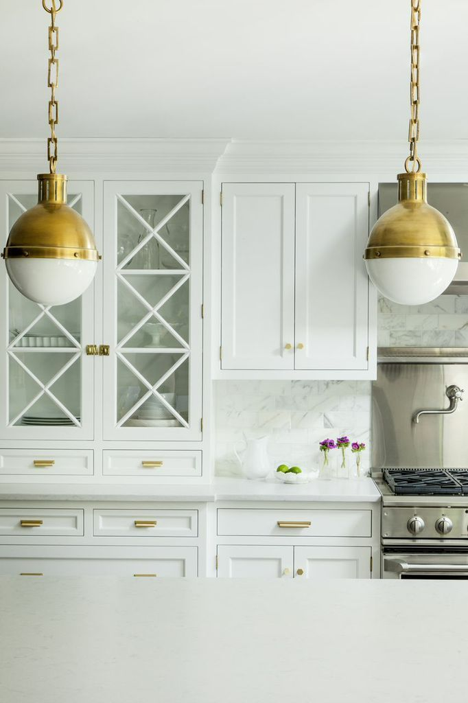 Rejuvenation Whats Hot By JIGSAW DESIGN GROUP - Gold kitchen pendants