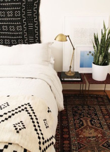 Tribal Bed and wall hanging