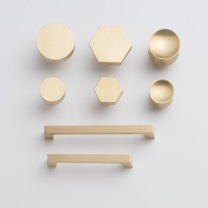 sleek gold pulls
