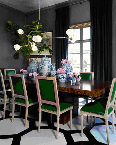 Green Dining Rooms: What's Hot By JIGSAW DESIGN GROUP