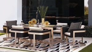 Gold wicker chairs porta forma