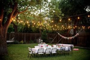 backyard simple table lights